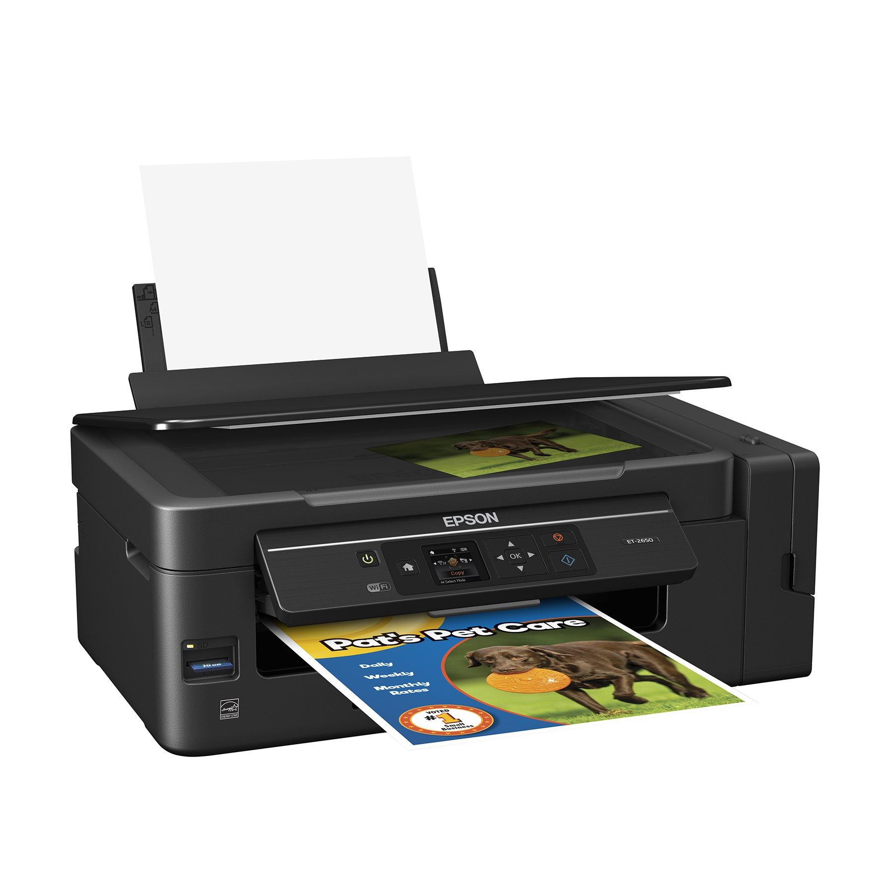 Epson Expression ET-2650 EcoTank Wireless Color All-in-One Small Business Supertank Printer with Scanner and Copier by Epson