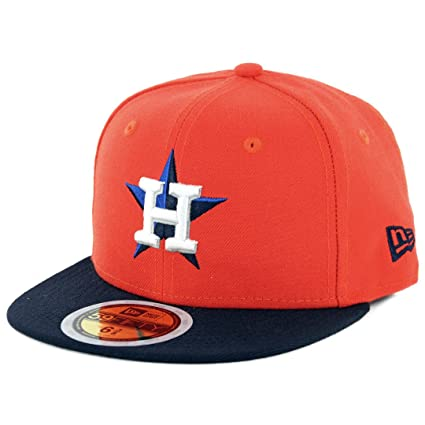 sports shoes 540e1 c7b12 Amazon.com   New Era 59Fifty AC Youth On Field Houston Astros ALT  (Orange Navy) MLB Cap   Clothing
