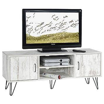 idimex tv lowboard tv rack hifi mobel fernsehtisch eva 2 turen 2 ablagen spanplatte 3d