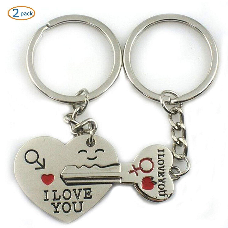 Lyanther Amor Clave para mi corazón Llavero Lindo Pareja Llavero llaveros Amor