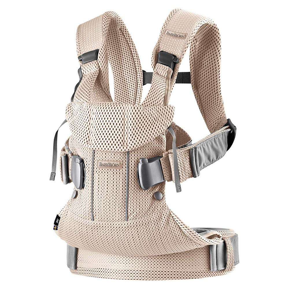 BabyBjorn Ergonomic One Air Cool Mesh Adjustable Baby Carrier Pearly Pink