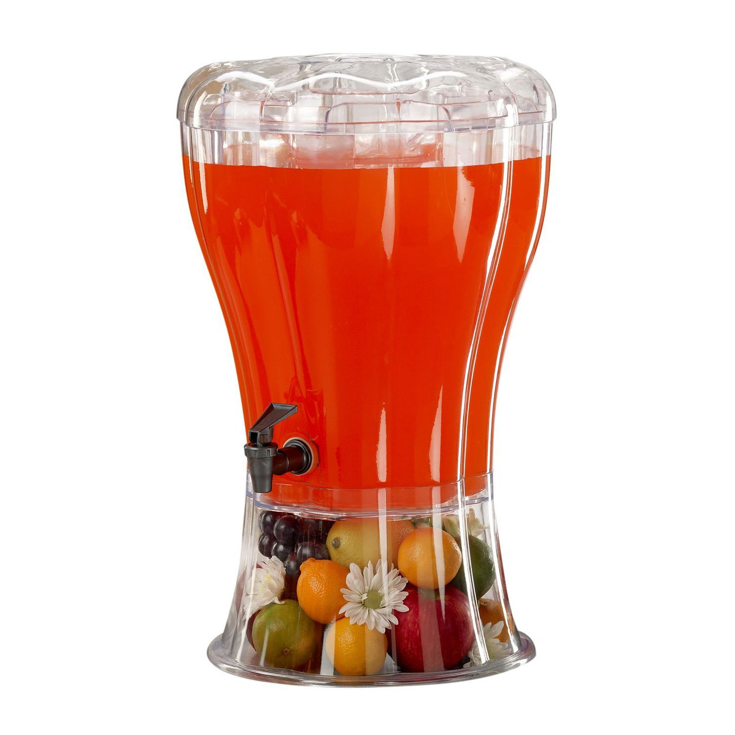 Catering Cold Beverage Drink Dispenser Unbreakable 3.5 Gallon BPA Free with Ice Cone Weddings Parties Events