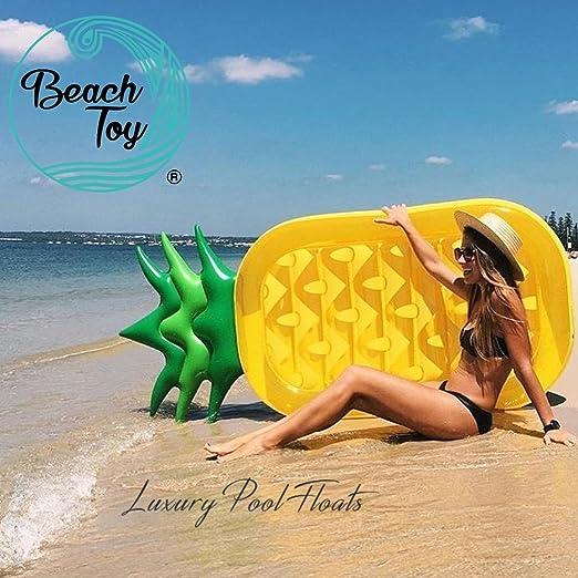 each Toy® - Colchón hinchable Piña talla XXL - 180 cm x 90 ...