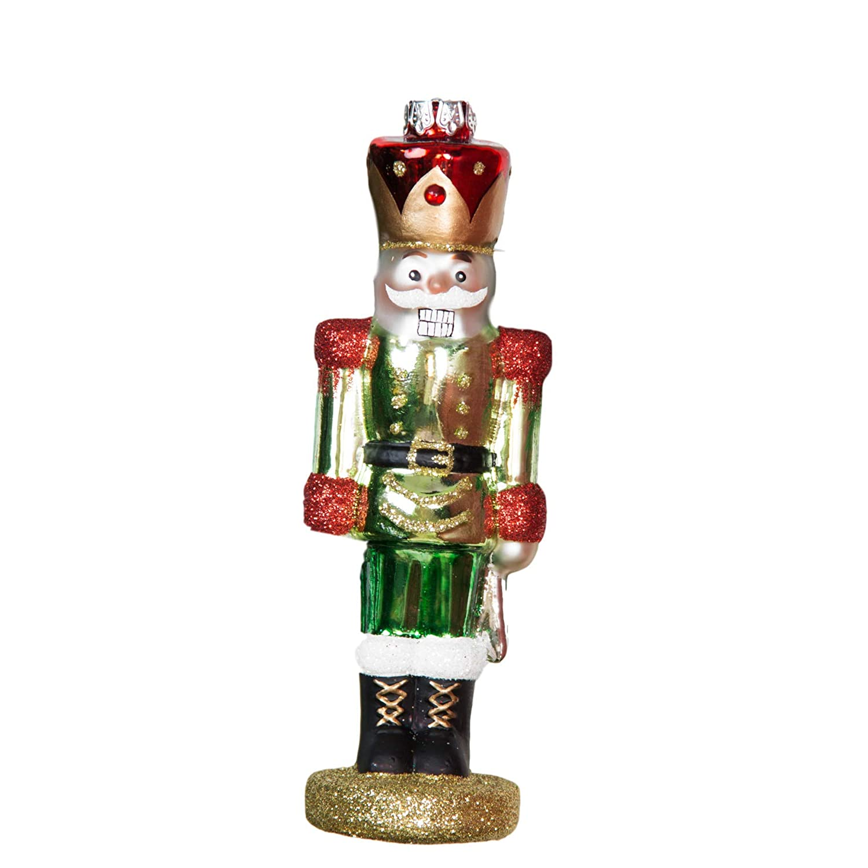 Gisela Graham Christmas Painted Glass Nutcracker Tree Decoration Traditional