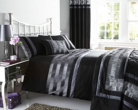 new black pintuck designed bedding matching items available king size duvet set