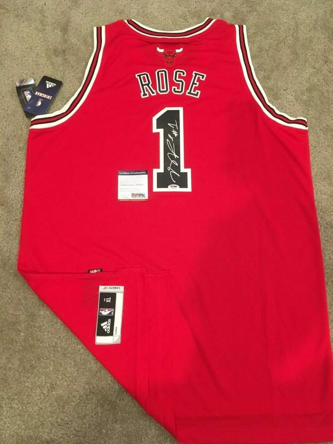 new style 411c2 b1d14 Derrick Rose Autographed Signed Memorabilia Official Chicago ...