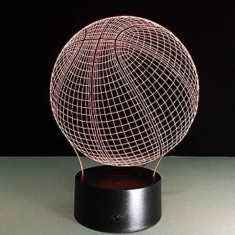 QAZEDC Luz nocturna 3D Acrílico visual 3D LED Luz nocturna ...