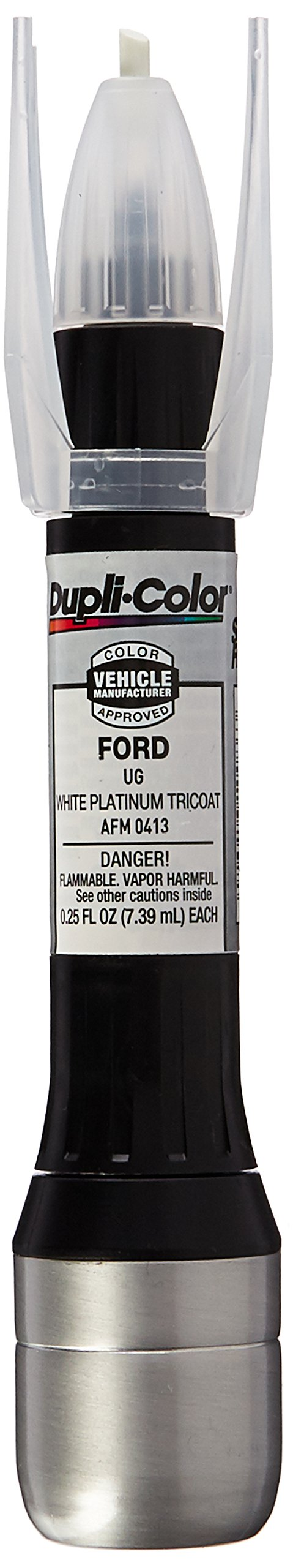 Dupli-Color Tricoat Single EAFM04130 Scratch Fix All-in-1 Exact-Match Automotive Touch-Up Paint, White Platinum Pearl UG.25 Ounce