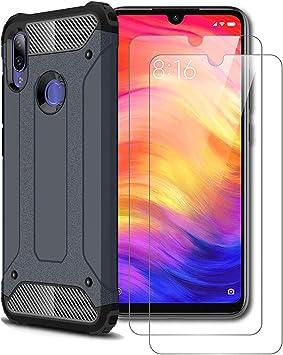 XIFAN Xiaomi Redmi Note 7 Funda, protección contra Golpes de TPU + ...