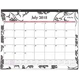 "Blue Sky 2018-2019 Academic Year Monthly Desk Pad Calendar, Ruled Blocks, 22"" x 17"", Barcelona"