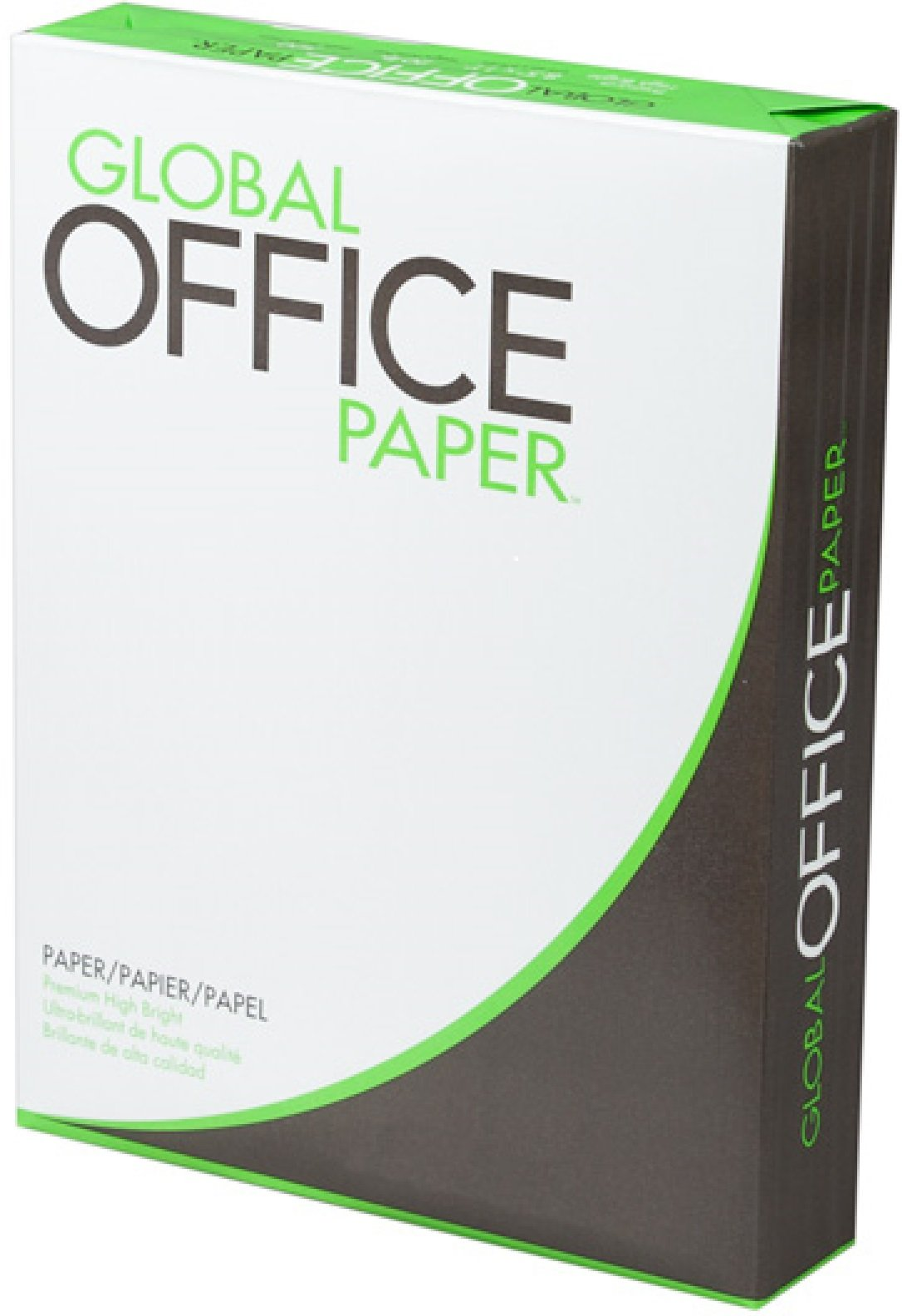 Global Office Paper High Brightness  Premium Smooth Copy Laser Inkjet, 8.5 X 11 Inch Letter Size, 20 Pound Density, 97 Bright, Acid-Free, Ream, 500 Total Sheets (GO851120)