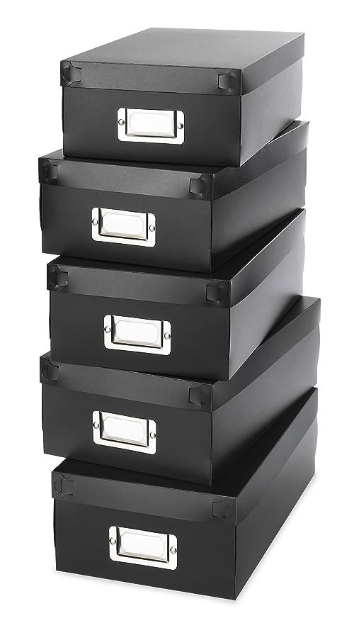 Amazon.com: WHITMOR 6551 – 977 – 5-blk Organizador Cajas de ...
