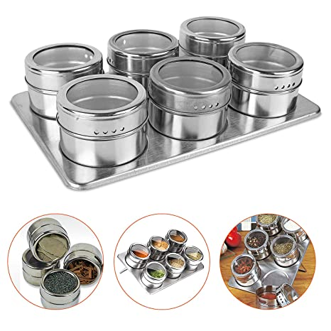 Amazon.com: PloybeeShop Magnetic Spice Rack & Trestle ...