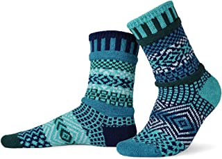 product image for Solmate Socks - Mismatched Crew Socks; Made in USA; Evergreen Small