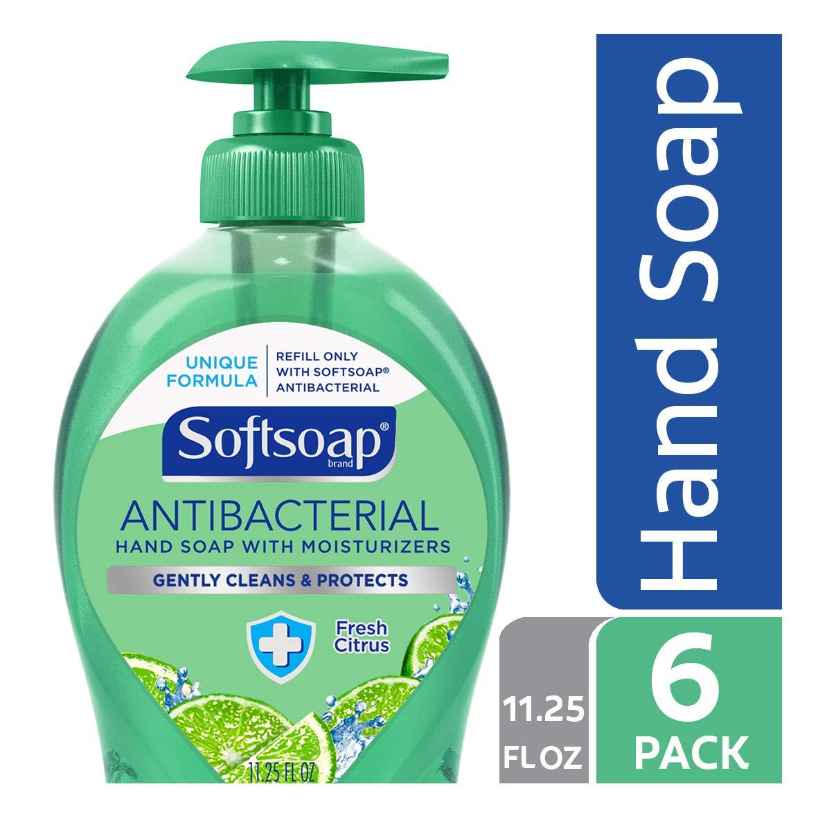 Softsoap Antibacterial Liquid Hand Soap, Fresh Citrus - 11.25 fluid ounce (6 Pack)