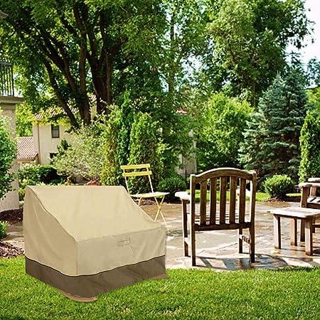 Funda de Silla Mecedora, Fundas Dobles para sillas de Exterior 420D de Alto Grado a Prueba de Polvo Impermeable y a Prueba de Polvo Muebles para jardín Taburete: Amazon.es: Hogar