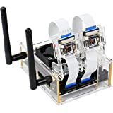 Yahboom Acrylic Case for NVIDIA Jetson Nano B01 & A02 with Cooling Fan and Camera Case (only for 4GB)