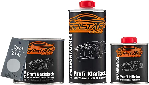 Tristarcolor Autolack Set Dose Spritzfertig Für Opel Z147 Starsilber Ii Metallic Star Silver Ii Metallic Basislack 2k Klarlack 1 25l Auto