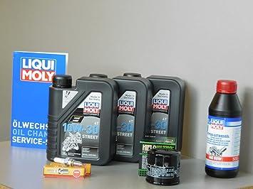 Kit de mantenimiento motocicleta Honda NT 700 V Deauville Service Inspección Bujía aceite: Amazon.es: Coche y moto