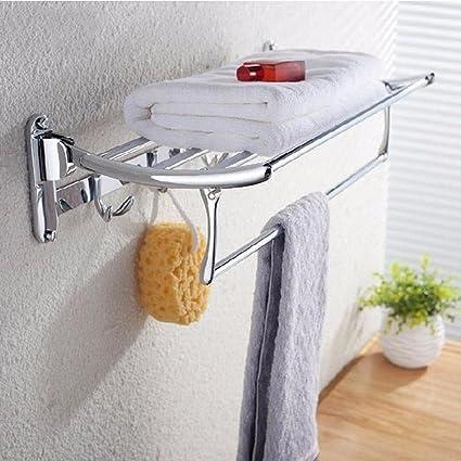 Honglong bañera de acero inoxidable Puerta Toallas doble Piega Actividad estante para baño toalla Estantería Lanai
