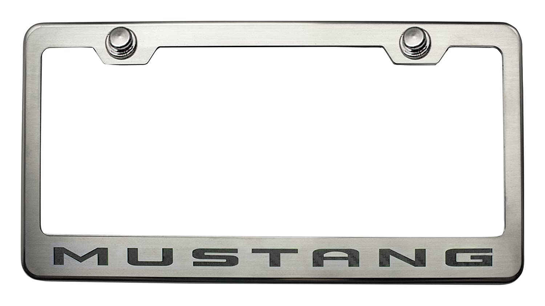 Chrome//Carbon Fiber Mustang Style Cf Blue American Car Craft 272015-BLU Tag Frame