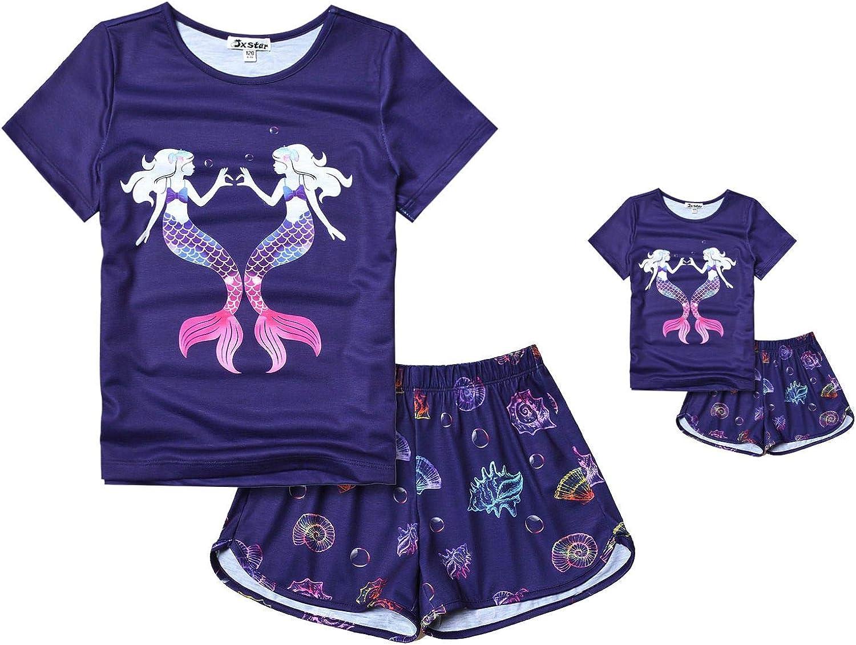 Matching Dolls & Girls Pajamas Unicorn Pjs Set Kids America Girl Dolls Clothes
