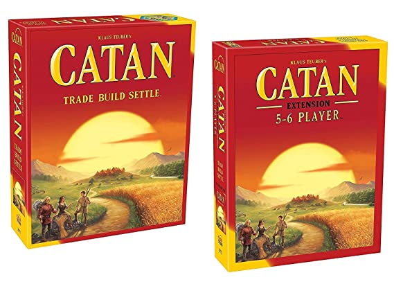 Jaynil Enterprise Catan Trade Build Settle Big Size with Catan Extension 5-6 Players 5th Edition Family Entertainment Board Game (Multicolor)