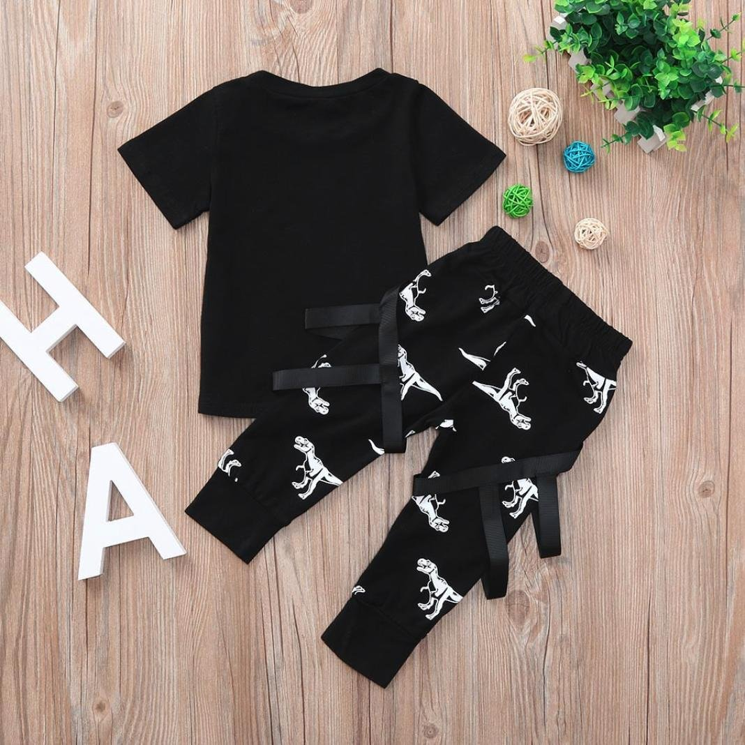 DIGOOD for 1-4 Years Old,Toddler Baby Boys Dinosaurs Print T-Shirt+Trousers,Children 2Pcs Stylish Outfits Summer Clothes Sets