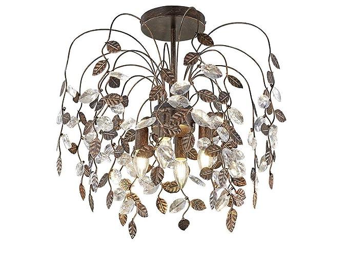 4 - 17 - Lámpara LED de techo Ø50 cm de estilo araña de ...