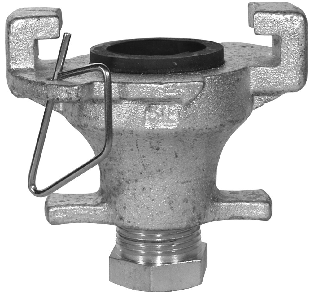 Dixon SL01 1-1/2'' - 2'' Surelock Blank End (1) SLP1, Medium Head, 1'' NPT Pipe Plug, 2'' ID, Iron