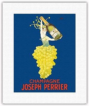 Póster Vintage de J.J, diseño de la Isla de Pacifica, Champagne ...