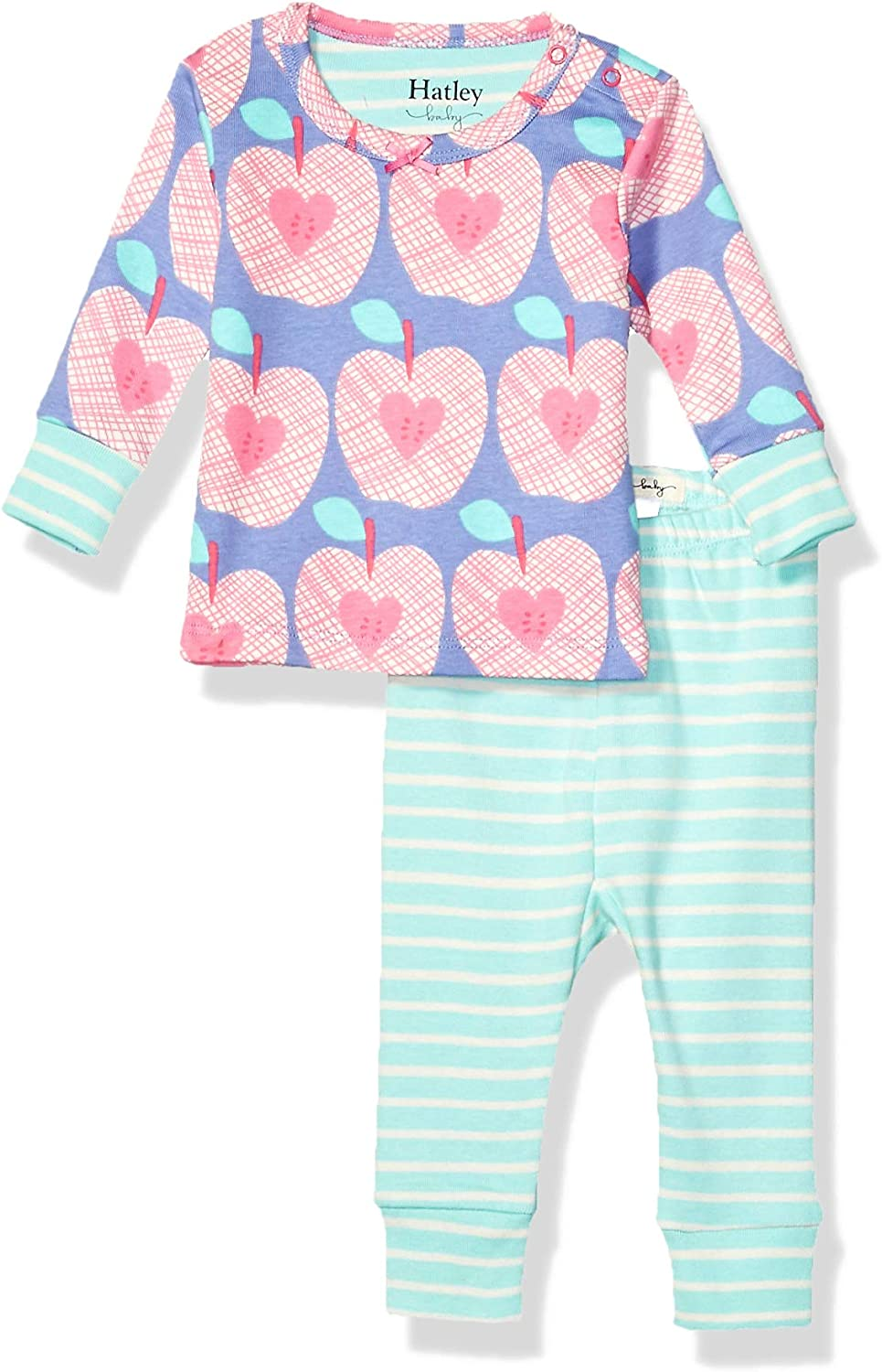 Hatley Baby Girls' Organic Cotton Long Sleeve Mini Pajama Sets