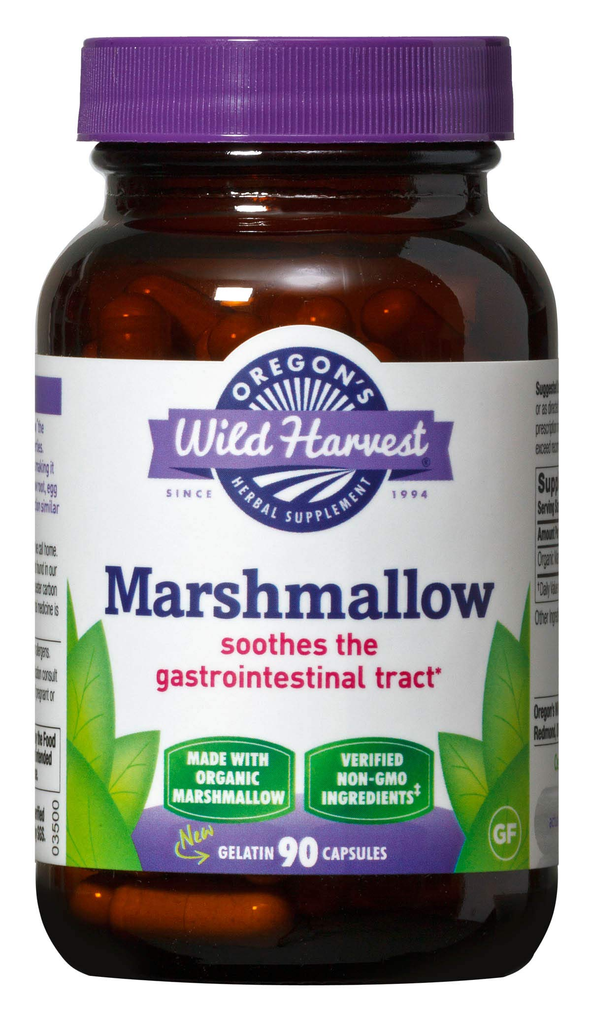 Oregon's Wild Harvest Marshmallow Root Capsules ,  Non-GMO Organic Herbal Supplements (Packaging May Vary), 90 Count