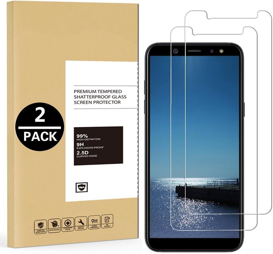 2 x Panzerglas Folie f/ür Samsung Galaxy A6 2018 Schutzfolie Ultra Klar Transparent 9H H/ärte Panzerglas Displayschutzfolie Anti-/Öl Anti-Fingerabdruck Blasenfreie Geh/ärtetes Glas HD Panzerglasfolie