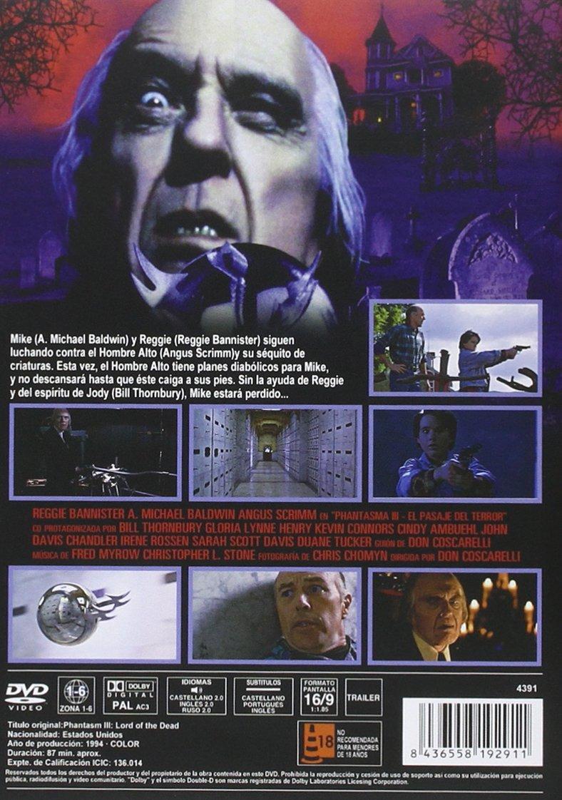 ecc84096a2 Phantasma III  El Pasaje Del Terror DVD 1994 Phantasm III  Lord of the  Dead  Amazon.es  Reggie Bannister