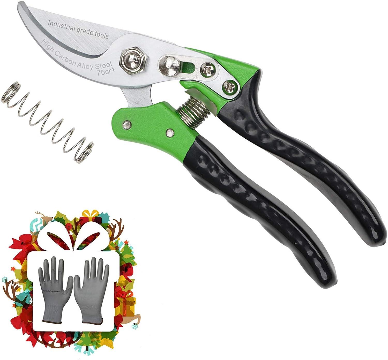 """8/"""" Pruning Shears Hand Pruner Ratchet Scissors Branch Cutter Trimmer Bonsai Tool"""