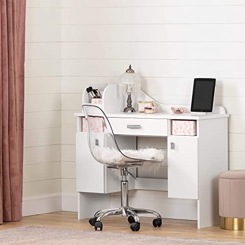 South Shore Tiara Makeup Desk-Pure White