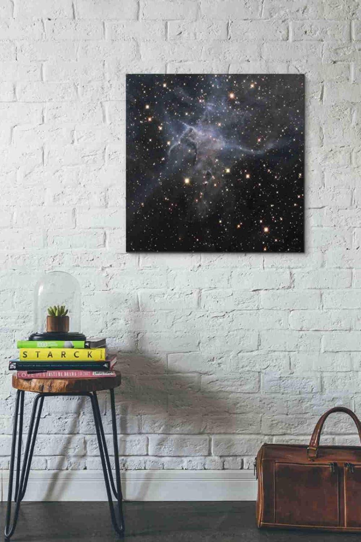 Blue Epic Graffiti Mystic Mountain Hubble Space Telescope Giclee Canvas Wall Art 12 x 12