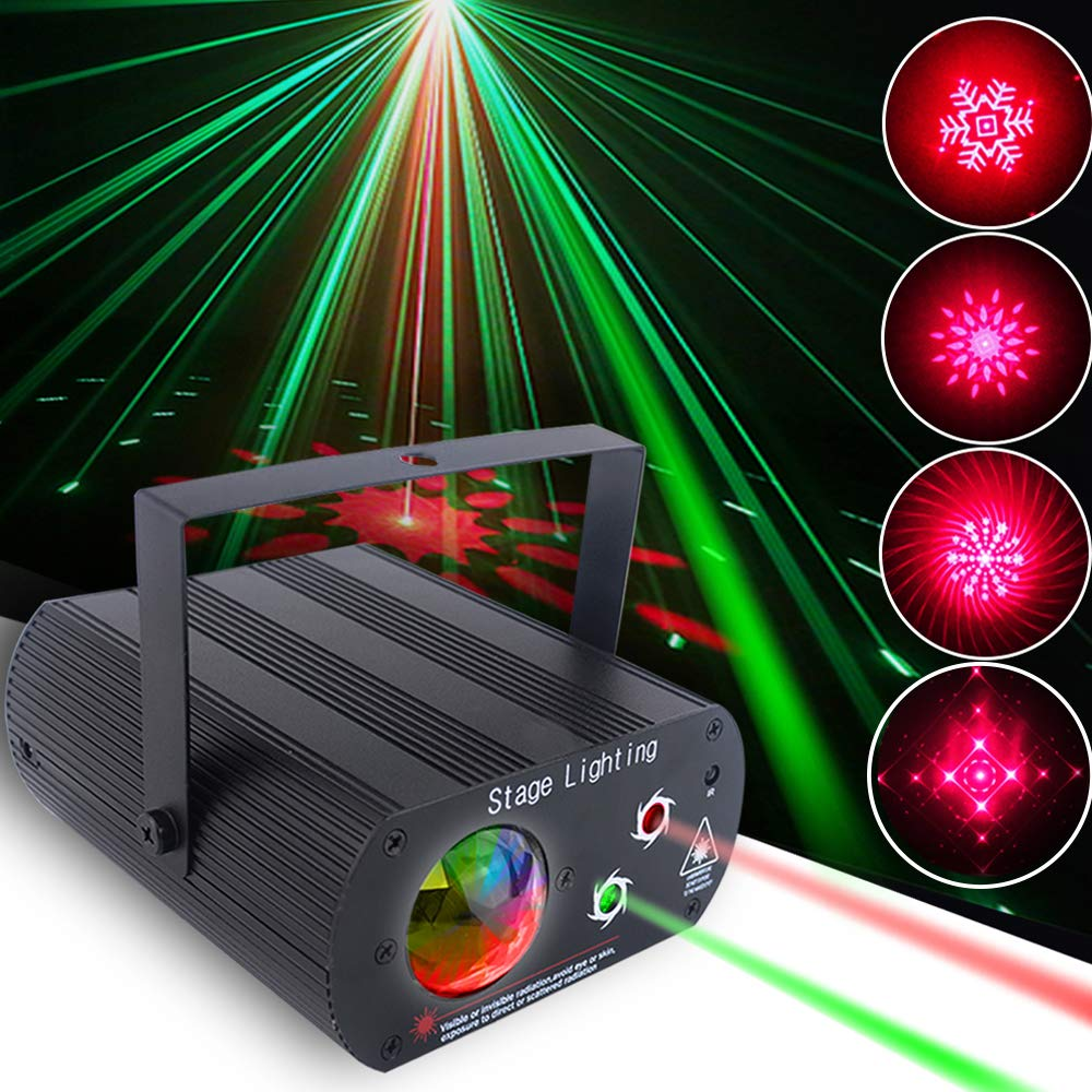Party Lights DJ Lights Disco Light +Water Wave Light 2 In 1 Strobe Stage Light with Remote Control and Sound Activated great for KTV Karaoke Bar Stage Club Birthday Wedding Christmas Halloween by SUYBUY