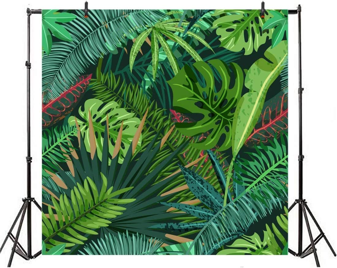 Yeele 9x9ft Tropical Photography Background Tropical Fruit Palms Forest Jungle Painting Sunglasses Summer Party Photo Backdrops Portrait Shooting Studio Props