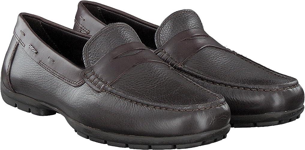 Geox U Monet W 2FIT D Mens Leather Moccasins Shoes