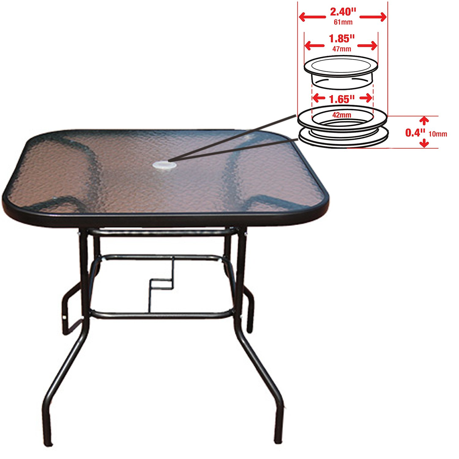 Bettli 1 Count Patio Table Umbrella Hole Ring Plug Cover And Cap For