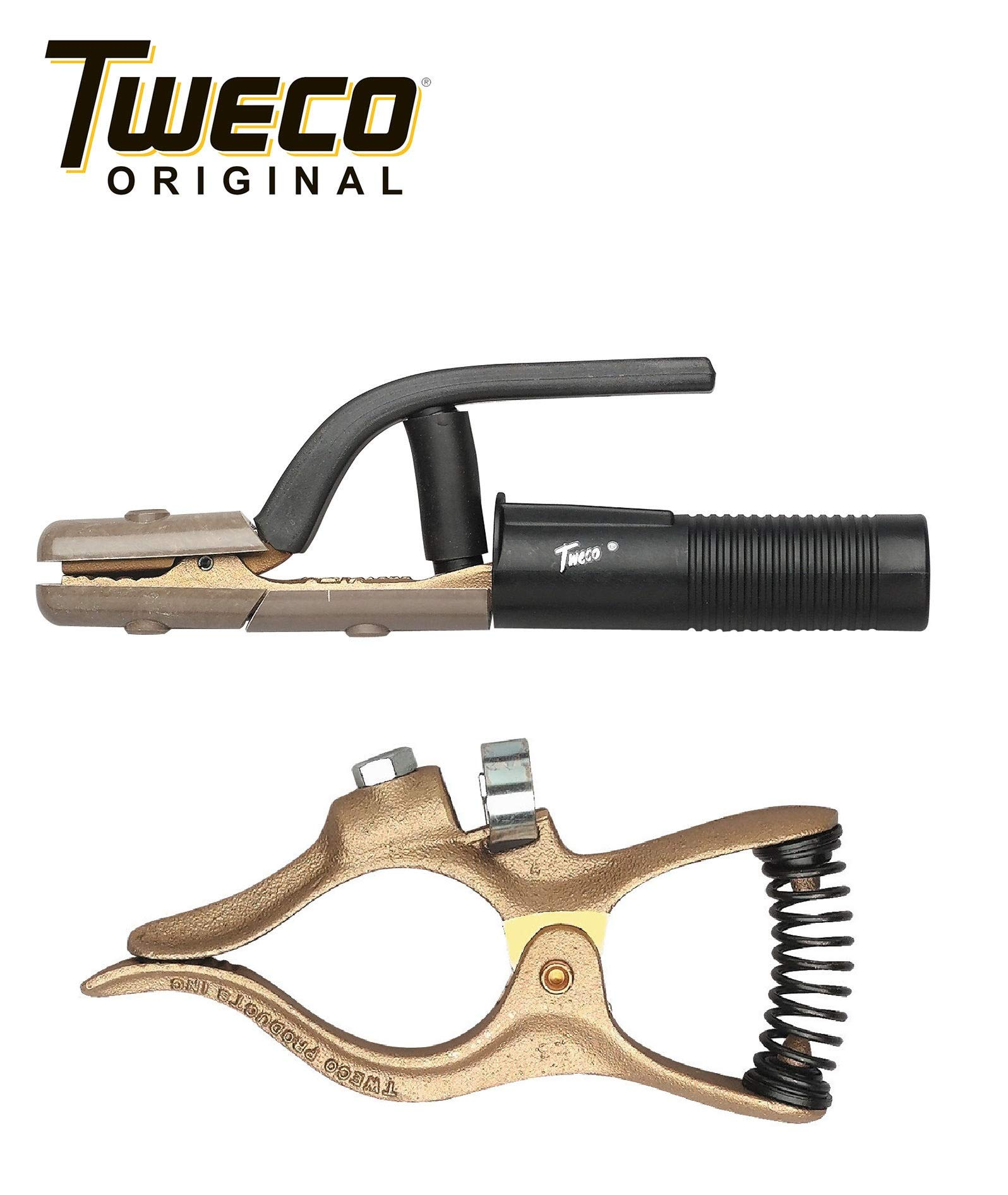 Combo - Genuine Tweco GC-200 Ground Clamp & A-532 Electrode Holder by Tweco