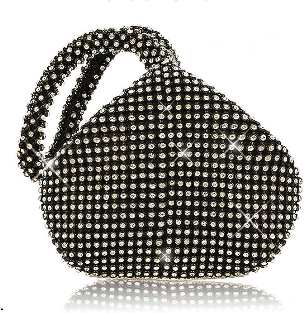 Vistatroy Evening Bag Bling Full Rhinestone Designer Handbags Bridal Party Prom Wedding Clutch Purses for Women