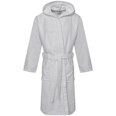 Linen Galaxy Kids Girls 100% Egyptian Cotton Velour Terry Towelling Bath  Robe Dressing Gown Sleepwear Hooded  Amazon.co.uk  Clothing c0b138c94