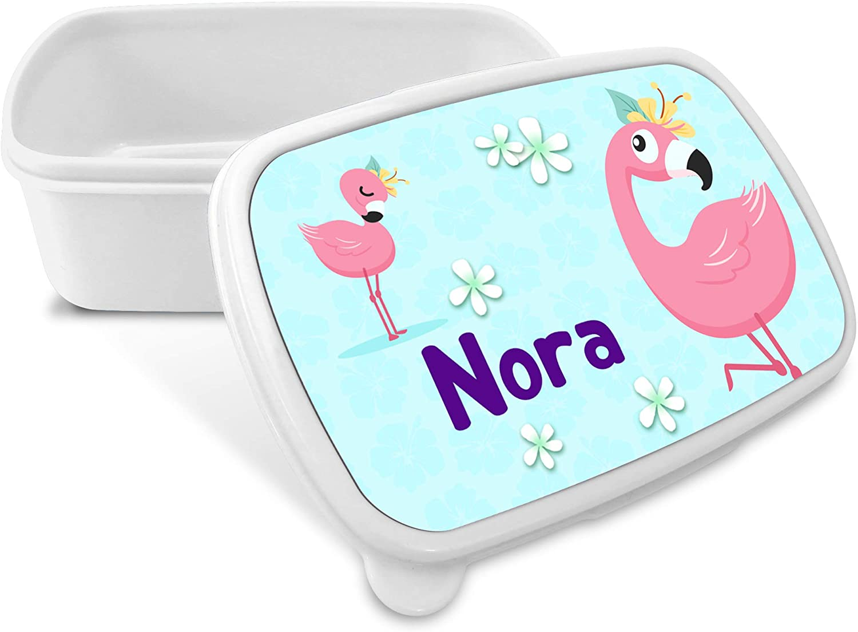 Vari Disegni Flamingo Lolapix Porta Merenda Flamingo Personalizzatta con Nome//Corso Ritorno a Scuola
