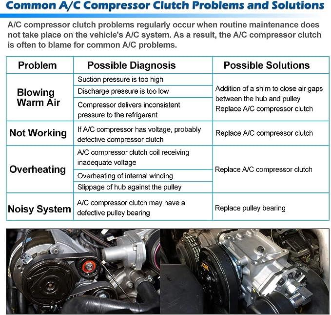 A//C Compressor Clutch 57190 fits 2003-2006 Kia Sorento 3.5L Reman