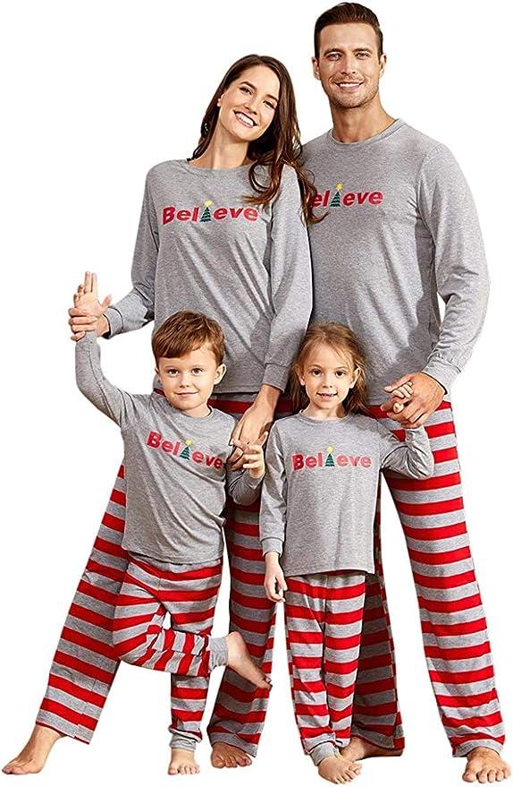 Pants Set Sleepwear elk Pj Baby Romper JEELINBORE Christmas Family Matching Pyjama Mom Dad Kids 2PCS Top