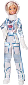 Barbie Astronaut Doll Wearing Space Suit and Helmet, Blonde, for 3 to 7 Year Olds