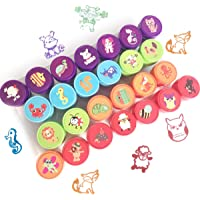 Txyk Dieren Stempels voor Kinderen Kinderen Wasbaar Zelf-Inkt Stempels Leuke Karton Stamper Sets voor Party Bag Fillers…
